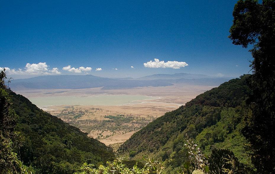 Vy över Ngorongorokratern