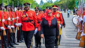 Tanzanias president Samia Suluhu Hassan